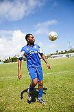 BERMUDA, South Hampton. South Hampton Rangers playing a game at the South Hampton Rangers Field.