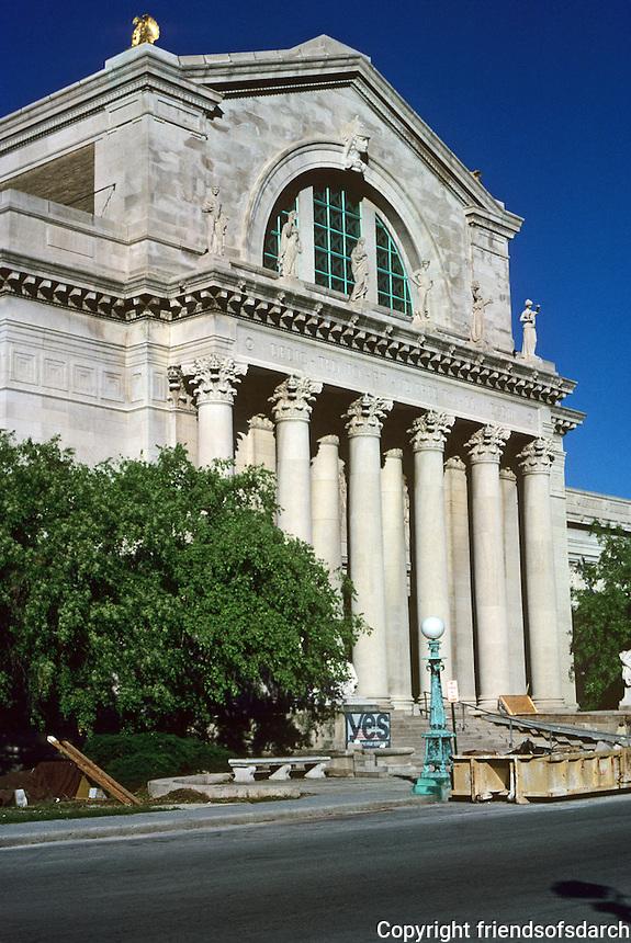 """St. Louis: City Art Museum. (""""Derived from the Baths of Caracalla"""").  Cass Gilbert, 1904. Photo '77."""