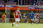 Danny Redmond taps into an empty net to score for Accies