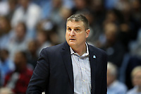 CHAPEL HILL, NC - FEBRUARY 1: Head coach Jim Christian of Boston College during a game between Boston College and North Carolina at Dean E. Smith Center on February 1, 2020 in Chapel Hill, North Carolina.