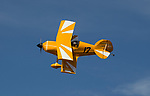 Eric Zine pilots Yellow Fever in a Biplane heat race during the National Championship Air Races in Reno, Nevada on Thursday, September 14, 2017.