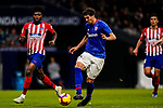 Mikel San Jose Dominguez of Athletic de Bilbao (C) in action as Thomas Teye Partey of Atletico de Madrid looks on during the La Liga 2018-19 match between Atletico de Madrid and Athletic de Bilbao at Wanda Metropolitano, on November 10 2018 in Madrid, Spain. Photo by Diego Gouto / Power Sport Images