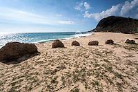 Ulehawa Historic Site,  remains of traditional Hawaiian settlement, Waianae, Oahu, Hawaii