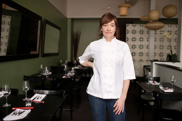 April 1, 2011. Chapel Hill, NC.. Andrea Reusing, the owner and head chef of Lantern Restaurant, just released her cookbook, Cooking in the Moment, about seasonal cooking..