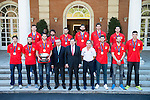 20150921. Mariano Rajoy with the Spain national basketball team.