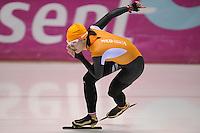 SCHAATSEN: HEERENVEEN: 31-01-2014,  IJsstadion Thialf, Training Topsport, Marrit Leenstra, ©foto Martin de Jong