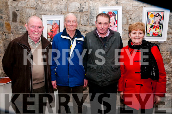 Johnny Barrett Tribute Show: Attending the Johnny Barret tribute show at St. John's Arts Centre, Listowel on Fridasy night last were Sean Walsh, Jim Browne, Leo Finnucane, organiser & Breda Browne.