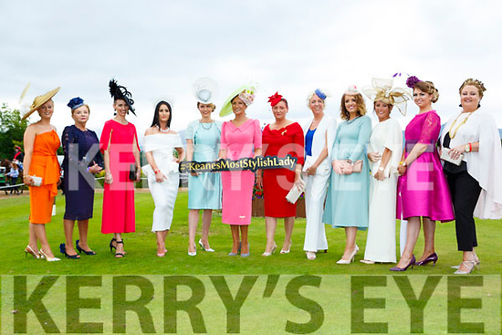 The finalists in the best dressed at ladies day at  Killarney Races on Saturdayl-r: Stacey O'Leary, Maura O'Riordan, Maria McMahon, Jacqueline Crotty, Lisa daly, Olivia O'Leary-Lucey, Katie Fox, Marian O'Driscoll, Siobhain kennedy, Norelle Murphy and Annette Enright
