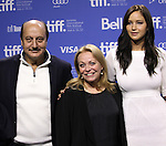 Actor Anupam Kher, Actors Jacki Weaver and Jennifer Lawrence  attending the The 2012 Toronto International Film Festival.Photo Call for 'Silver Linings Playbook' at the TIFF Bell Lightbox in Toronto on 9/9/2012