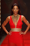 Model Veronica Webb walks runway in a red dress by Amanda Casarez, for the Red Dress Collection 2017 fashion show, for The American Heart Association, presented by Macy's at the Hammerstein Ballroom in New York City on February 9, 2017; during New York Fashion Week Fall 2017.