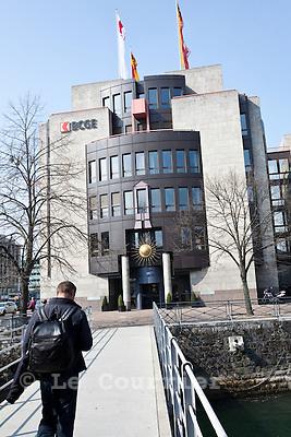 Genève, le 13.04.2010.Banque cantonale de Genève, BCGE.© Le Courrier / J.-P. Di Silvestro