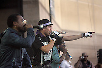 LOS ANGELES,CA - AUGUST 09,2008: Special suprise guests Black Eyed peas perform at Rock the Bells concert. Glen Helen Pavilion was filled with hip hop fans August 9, 2008 for Rock the Bells concert.