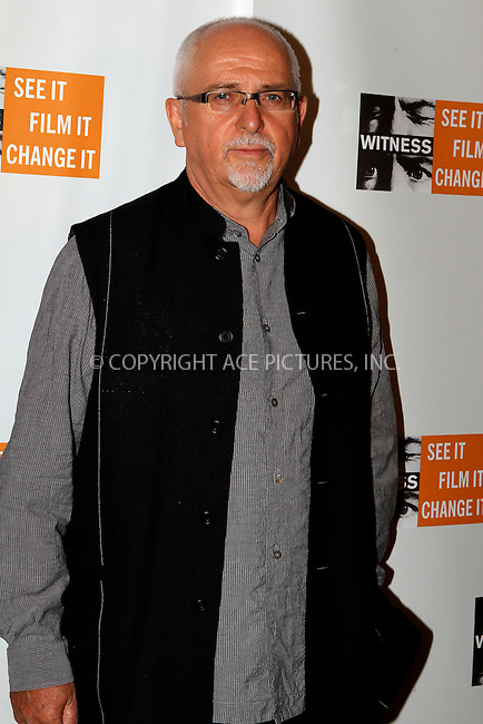 WWW.ACEPIXS.COM....October 11 2012, New York City....Peter Gabriel at the 8th Annual Focus For Change Benefit at Roseland Ballroom on October 11, 2012 in New York City.......By Line: Nancy Rivera/ACE Pictures......ACE Pictures, Inc...tel: 646 769 0430..Email: info@acepixs.com..www.acepixs.com