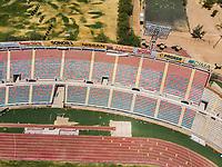 Vista aerea de Complejo deportivo de la Comisión Estatal de Deporte, CODESON en Hermosillo, Sonora....<br /> <br /> Graderío, Gradas y butacas del Estadio Héroe de Nacozari. Muchos, Varios. <br /> Azul y Rojo.<br /> Pista de Atletismo, <br /> <br /> <br /> Photo: (NortePhoto / LuisGutierrez)<br /> <br /> ...<br /> keywords: