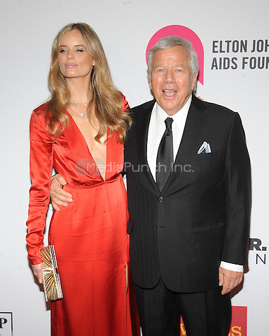 New York,NY- October 28: Ricki Noel Lander, Robert Kraft attends the Elton John AIDS Foundation's 13th Annual An Enduring Vision Benefit at Cipriani Wall Street on October 28, 2014 in New York City In New York City on October 27, 2014 . Credit: John Palmer/MediaPunch