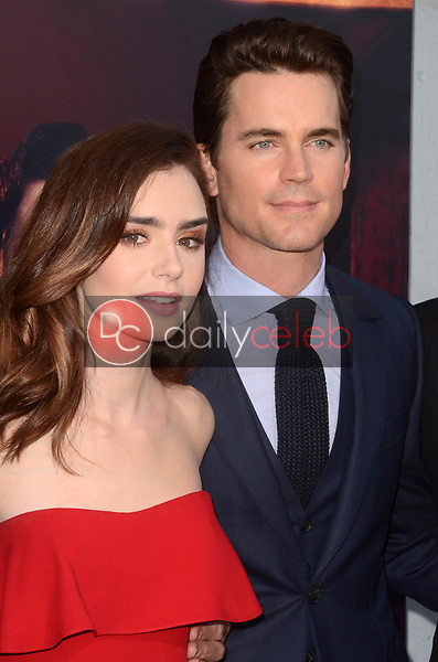 """Lily Collins, Matt Bomer<br /> at """"The Last Tycoon"""" Red Carpet Premiere Screening, Harmony Gold Theater, Los Angeles, CA 07-27-17<br /> David Edwards/DailyCeleb.com 818-249-4998"""