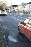Potholes on the Dublin Road outside Glanbia...(Photo credit should read Jenny Matthews/www.newsfile.ie)....This Picture has been sent you under the conditions enclosed by:.Newsfile Ltd..The Studio,.Millmount Abbey,.Drogheda,.Co Meath..Ireland..Tel: +353(0)41-9871240.Fax: +353(0)41-9871260.GSM: +353(0)86-2500958.email: pictures@newsfile.ie.www.newsfile.ie.