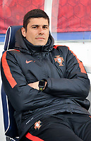 20180406 - LEUVEN , BELGIUM : Portugese coach Francisco Neto   pictured during the female soccer game between the Belgian Red Flames and Portugal , the fourth game in the qualificaton for the World Championship qualification round in group 6 for France 2019, Friday 6 th April 2018 at OHL Stadion Den Dreef in Leuven , Belgium. PHOTO SPORTPIX.BE | DIRK VUYLSTEKE