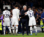 Tottenham's Jose Mourinho with Serge Aurier during the UEFA Champions League match at the Tottenham Hotspur Stadium, London. Picture date: 26th November 2019. Picture credit should read: David Klein/Sportimage