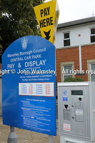 Ticket machine, Pay & Display car park, Farnham, Surrey.