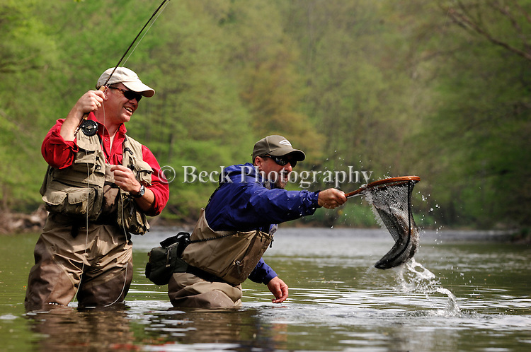 Trout to net in the spring in PA