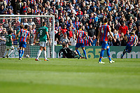 GOAL - Patrick van Aanholt of Crystal Palace scores even though it's cleared off the line during the EPL - Premier League match between Crystal Palace and West Bromwich Albion at Selhurst Park, London, England on 13 May 2018. Photo by Carlton Myrie / PRiME Media Images.