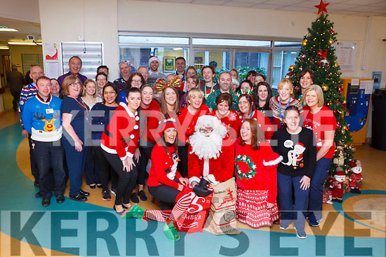 Staff at University Hospital Kerry were feeling festive on Friday when they took part in the annual Radio Kerry Christmas Jumper Appeal in conjunction with Kerry branch of the St Vincent de Paul.