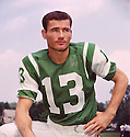 New York Jets Don Maynard (14) portrait from his career with the New York Jets. Don Maynard played for 15 season with 3 different teams. He was a 4-time Pro Bowler and  and was inducted into the Pro Football Hall of Fame in 1987.(SportPics)