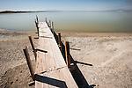 Fishing pier at the mouth of the Alamo River, Salton Sea, Calif.