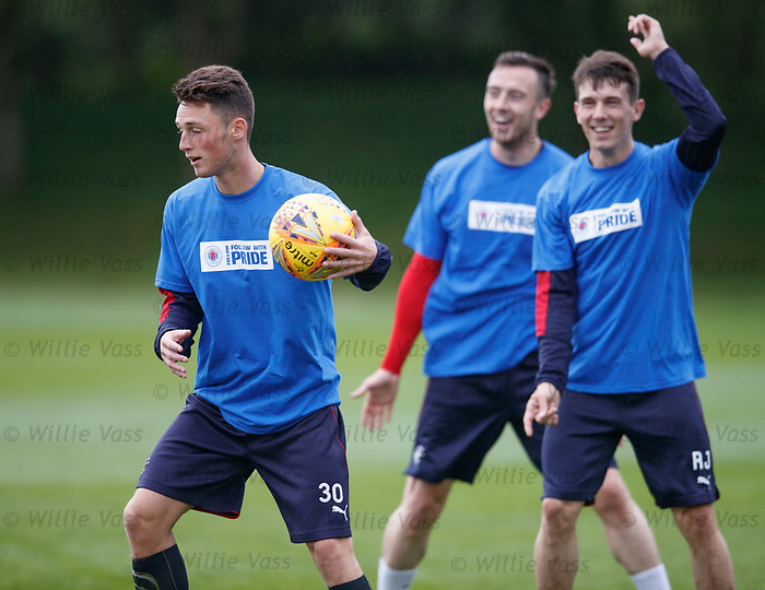 Jordan Thompson with Danny Wilson and Ryan Jack