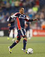 Second half substitute New England Revolution forward Fernando Cardenas (80). In a Major League Soccer (MLS) match, the New England Revolution defeated Vancouver Whitecaps FC, 4-1, at Gillette Stadium on May 12, 2012.