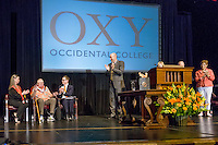 Occidental College alumni come together for the Fifty Year Club meeting and class of 1965 new member induction event at Thorne Hall during Alumni Reunion, Sunday, June 14, 2015. During the meeting, the Board of Trustees presented an honorary degree to Jack Shemer '62.<br /> (Photo by Don Milici, Freelance Photographer)