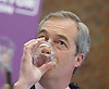 UKIP launch London Manifesto 2016 <br /> with Candidates for mayor and the London Assembly <br /> at the Emmanuel Centre, London, Great Britain <br /> 19th April 2016 <br /> <br /> Nigel Farage <br /> Leader of UKIP <br /> <br /> <br /> <br /> <br /> Photograph by Elliott Franks <br /> Image licensed to Elliott Franks Photography Services