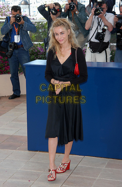 "EMMANUELLE BEART - EMMANUEL BEART.""Les Egares"" Photocall.Cannes Film Festival 2003.www.capitalpictures.com.sales@capitalpictures.com.©Capital Pictures.wedges, wedge heels, shoes"