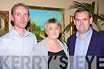 Attending the Damien O'Carroll benefit dance in the Listowel Arms Hotel on Friday night were Pat Hanlon, Listowel with Norette and Mike Kissane, Moyvane.   Copyright Kerry's Eye 2008