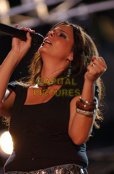 SARA EVANS.Performs Live in Concert at the 2005 CMA Music Festival held at The Coliseum, Nashville, Tennessee, .USA, 10 June 2005..half length .Ref: ADM.www.capitalpictures.com.sales@capitalpictures.com.©George Shepherd/AdMedia/Capital Pictures.