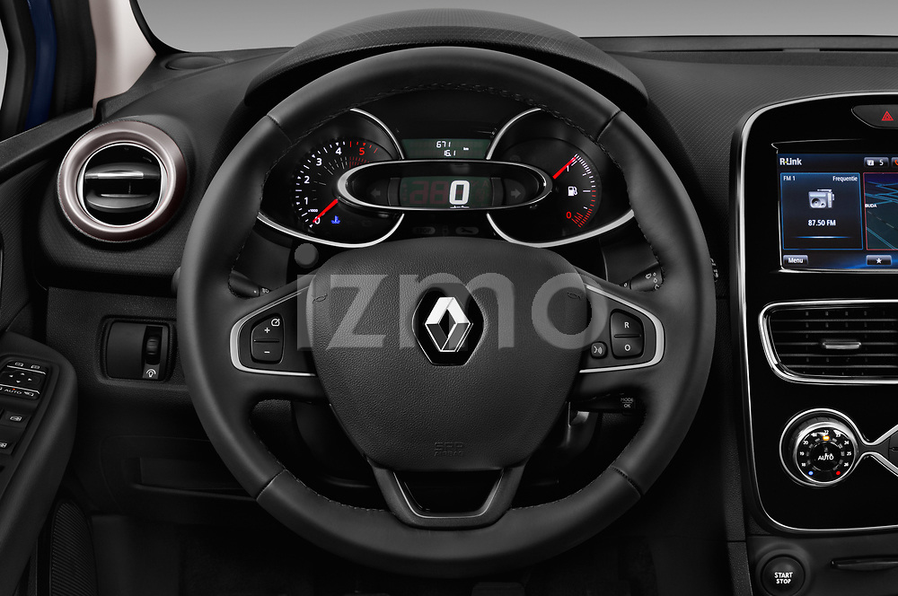 Car pictures of steering wheel view of a 2017 Renault Clio Intnse 5 Door Wagon Steering Wheel