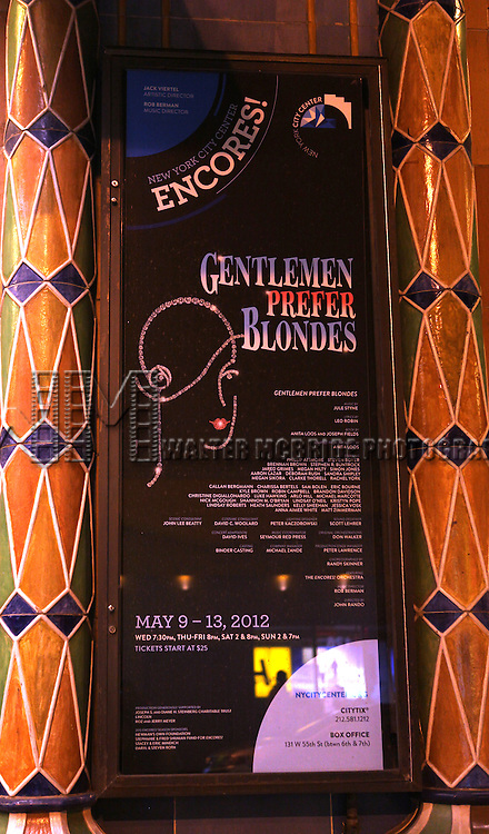 Poster  for the final performance of the New York City Center ENCORES! Production of 'Gentlemen Prefers Blondes' at City Center in New York City on 5/13/2012.
