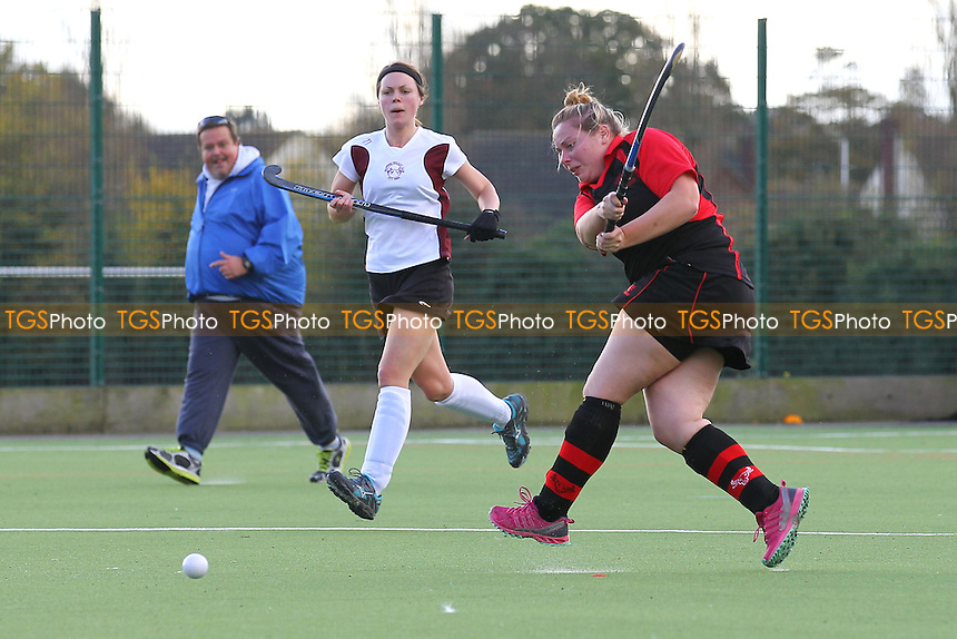 Havering score their third goal - Havering HC Ladies vs Wapping HC Ladies 3rd XI - Essex Hockey League at Campion School - 01/11/14 - MANDATORY CREDIT: Gavin Ellis/TGSPHOTO - Self billing applies where appropriate - contact@tgsphoto.co.uk - NO UNPAID USE