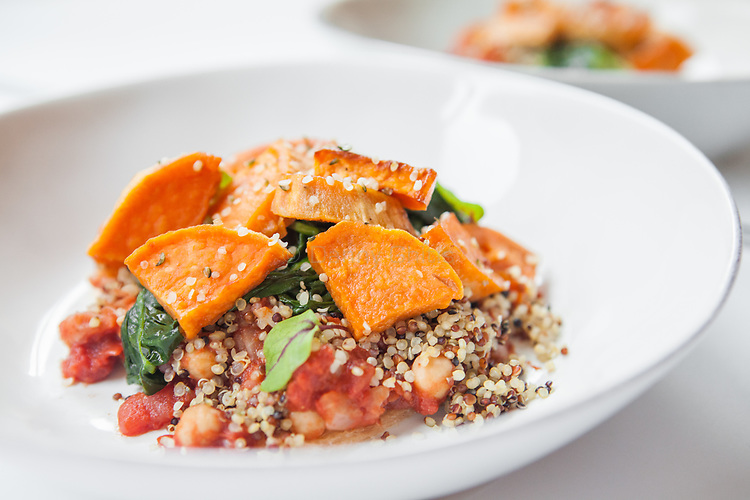 The Maple Sweet Potato Bowl from Sakara Life, which comes prepared and packaged.<br /> <br /> Danny Ghitis for The New York Times