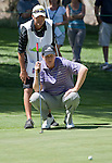 August 5, 2012: J.J. Henry and his cady line up a putt on th 5th green during the final round of the 2012 Reno-Tahoe Open Golf Tournament at Montreux Golf & Country Club in Reno, Nevada.
