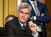 "United States Senator Bill Cassidy (Republican of Louisiana) listens during the US Senate Committee on Finance ""Hearing to Consider the Graham-Cassidy-Heller-Johnson Proposal"" on the repeal and replace of the Affordable Care Act (ACA) also known as ""ObamaCare"" in Washington, DC on Monday, September 25, 2017.<br /> Credit: Ron Sachs / CNP"