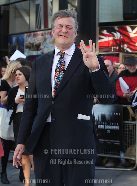 Stephen Fry arriving for the UK premiere of 'Star Trek Into Darkness' at The Empire Cinema, London. 02/05/2013 Picture by: Alexandra Glen / Featureflash