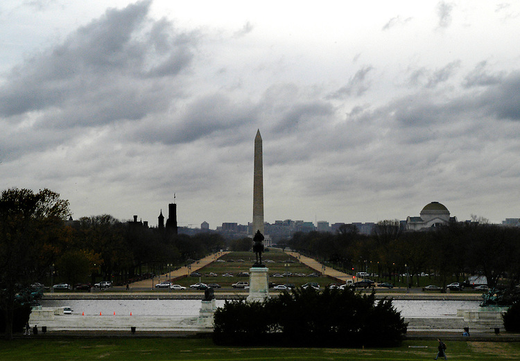 The weather was gray, Wednesday, in Washington, D.C.