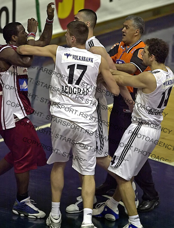SPORT KOSARKA PARTIZAN CRVENA  ZVEZDA 20.4.2005. foto: Pedja Milosavljevic<br />