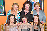 Leaving: Setting off for a new career from Beru, Monavalley, was Breda Barrett of Tralee, pictured with colleagues at a party in Tequila Restaurant on Friday evening. Front l-r: Nicola Mullins, Breda Barrett and Linda Nolan. Back l-r: Marilyn Roche, Patsy Clifford and Maureen OSullivan..