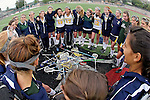La Mesa, CA 05/30/09 - The La Costa Canyon Girls Lacrosse Team's pregame motivational circle at midfield reflect on this years season.