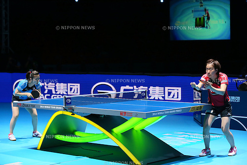 (L to R) <br /> Ai Fukuhara, <br /> Kasumi Ishikawa (JPN), <br /> DECEMBER 13, 2014 - Table Tennis : <br /> GAC Group 2014 ITTF World Tour Grand Finals <br /> Women's Singles <br /> at Indoor Stadium Huamark, Bangkok, Thailand <br /> (Photo by YUTAKA/AFLO SPORT) [1040]