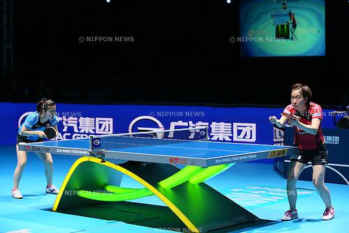 (L to R) <br /> Ai Fukuhara, <br /> Kasumi Ishikawa (JPN), <br /> DECEMBER 13, 2014 - Table Tennis : <br /> GAC Group 2014 ITTF World Tour Grand Finals <br /> Women's Singles <br /> at Indoor Stadium Huamark, Bangkok, Thailand <br /> (Photo by YUTAKA/AFLO SPORT) [1040]