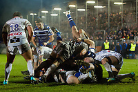 A general view of a ruck. Premiership Rugby Cup match, between Bath Rugby and Gloucester Rugby on February 3, 2019 at the Recreation Ground in Bath, England. Photo by: Patrick Khachfe / Onside Images